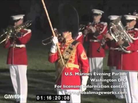 US Marines Evening Parade
