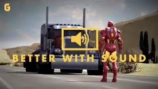 Iron man vs Optimus Prime.