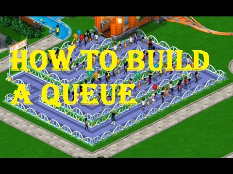 Making a Queue in Rollercoaster Tycoon 4 Mobile