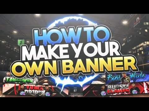 NBA 2K17   HOW TO MAKE YOUR OWN BANNER ON PHOTOSHOP CS6 FOR FREE!