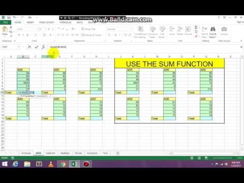 How to complete basic math in Excel