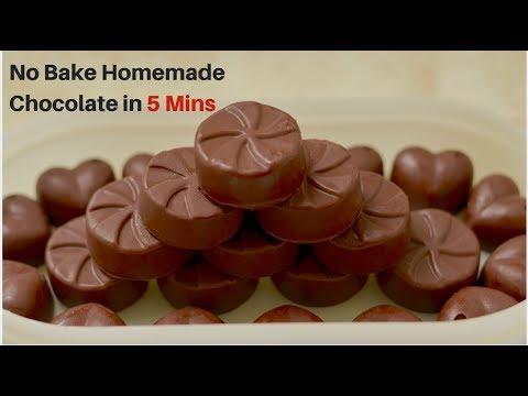 homemade Chocolate with only 4 ingredients | होममेड चॉकलेट रेसिपी | how to make milk chocolate recip