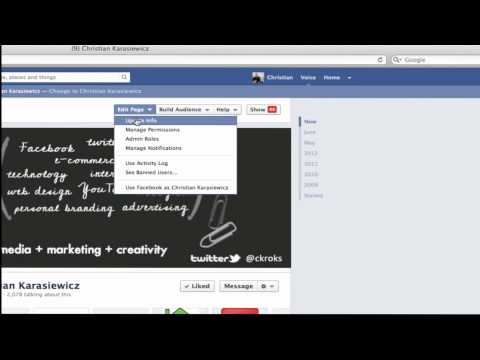 How to change your Facebook vanity URL