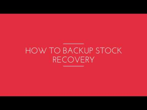 How to Backup Stock Recovery