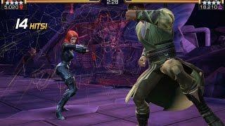Black Widow vs. Mordo Alliance Wars Miniboss Battle | Marvel Contest of Champions