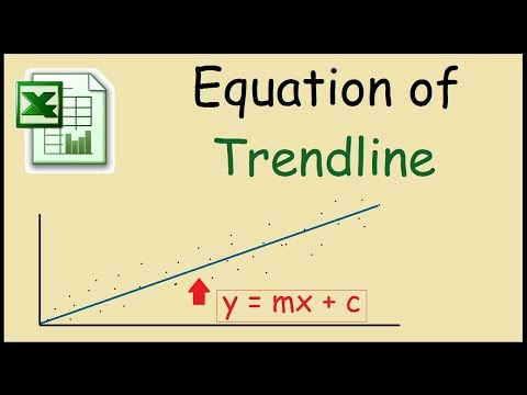 How to add equation to trendline in Excel