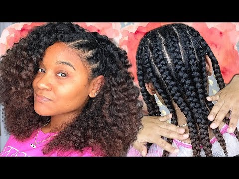 Braid Out on Natural Curly Hair