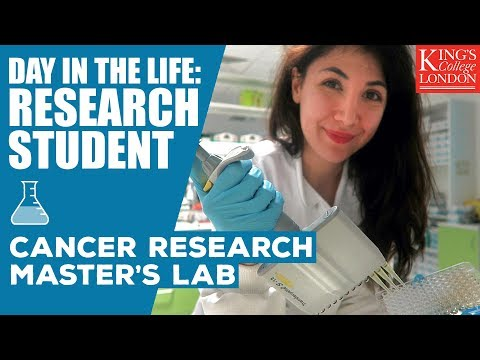 Day in the Life of a Cancer Research Master's Student | King's College London | Atousa Vlogs