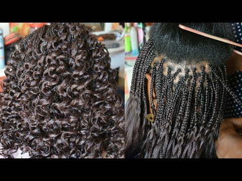 How To Box Braids / How To Curl Braids