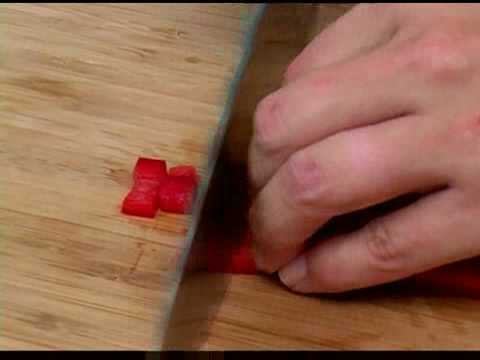 Cooking Tips : How to Dice Red Bell Peppers