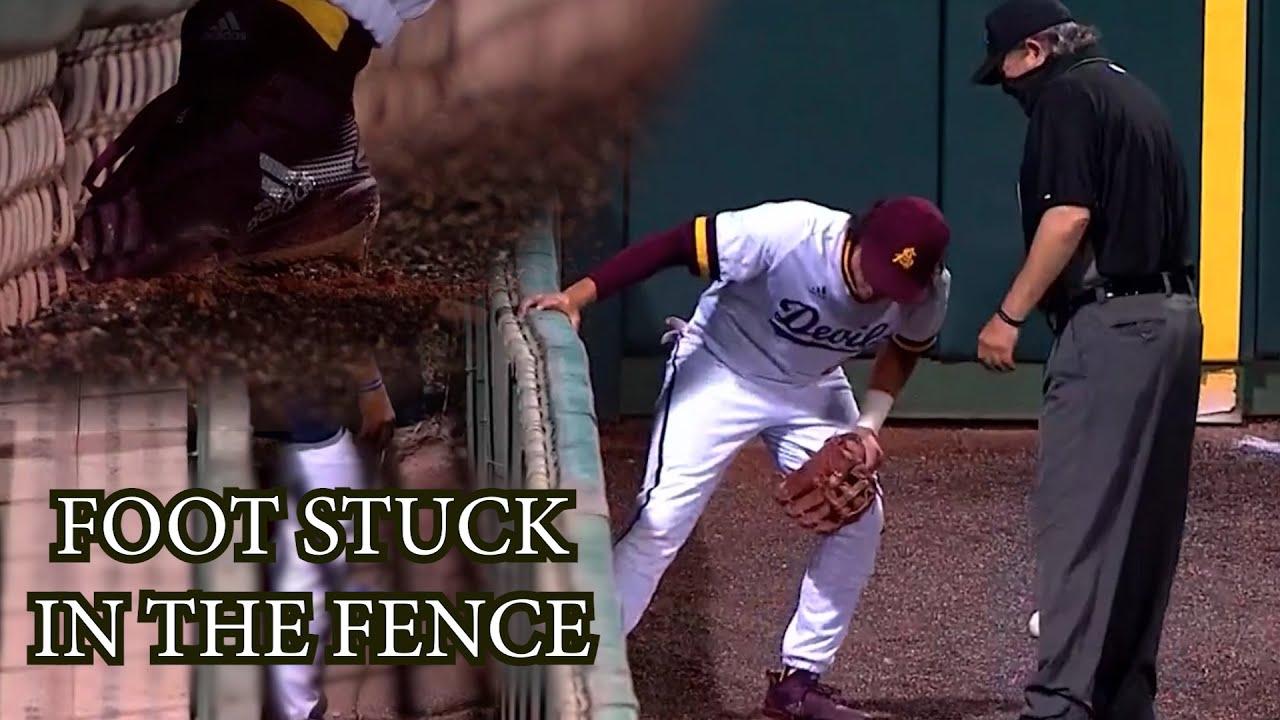 Fielder Gets His Foot Stuck in the Fence, a breakdown