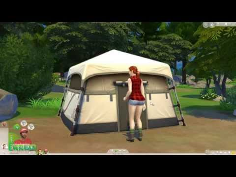 The Sims 4 Outdoor Retreat: Tent Woohoo