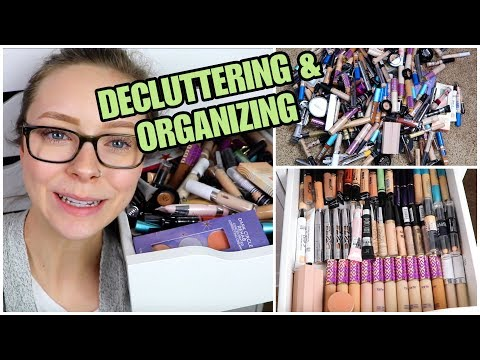 DECLUTTERING ALL MY CONCEALERS | Organizing Makeup