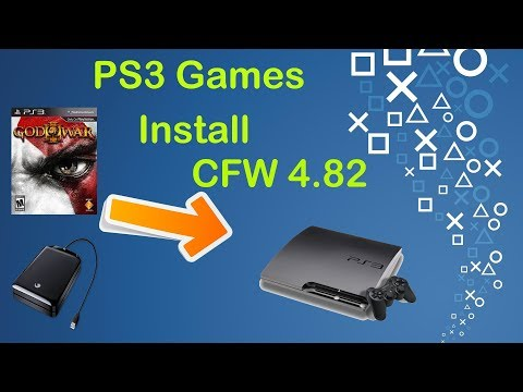 How to install PS3 Games on CFW 4.82 via USB - 2018