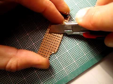 Cutting Perforated Circuit Board
