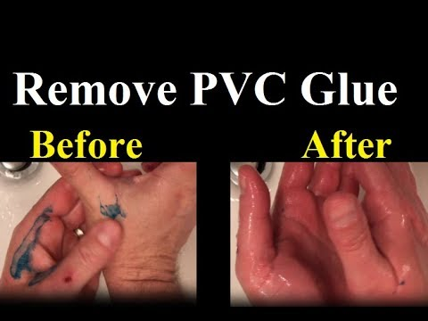How to Remove PVC Glue From Hands and Skin