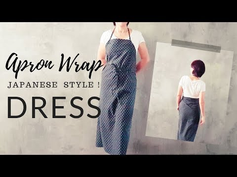 Diy Apron Wrap Dress Open Back Self Drafted Sewing Tutorial