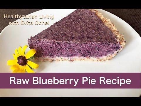 Raw Blueberry Pie Recipe (whole food vegan, oil-free)