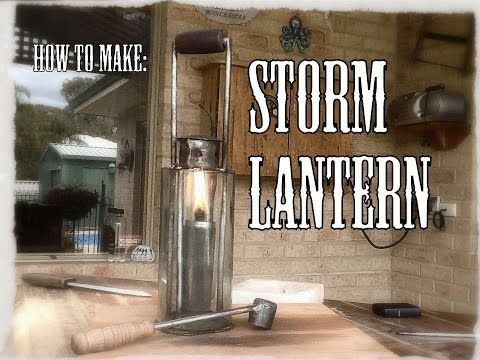 how to make a rustic oil lantern