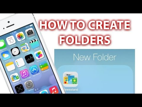 How To Create Folders iPhone 5s/5c, 6 & 6 Plus iPad and iPod Touch