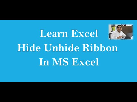 How To Hide Or Unhide The Excel Ribbon