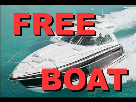 How to get a FREE BOAT (or almost free) 1