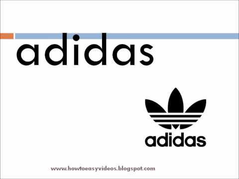 How to pronounce / say the brand name adidas