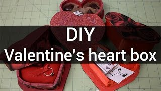 Make a heart shaped box for your valentine : DIY