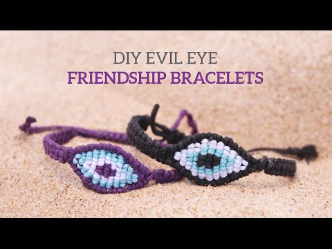 DIY Evil Eye Macramé Friendship Bracelets | Curly Made