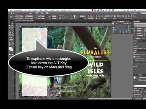 Adding Text and Adjusting Opacity of Rectangles in Indesign CC 2015