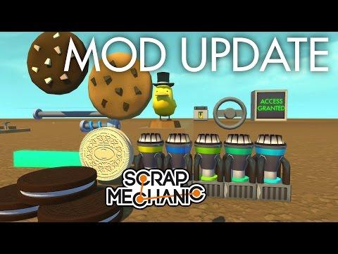 🔵 MOD UPDATE (Cookies, Security Monitor & more!)   Scrap Mechanic Mods