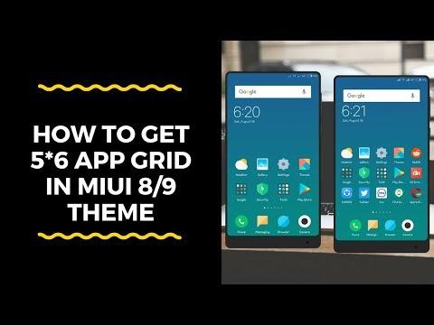 How to get 5*6 app grid in MIUI 8/9 😍