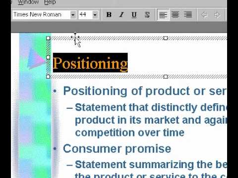 Microsoft Office PowerPoint 2000 CHange font style