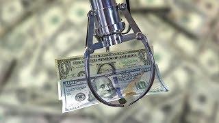 Money Claw Machine! Over $600! Arcade Crane Game Winning Money for Charity!