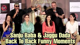 Sanjay Dutt And Jackie Shroff Back To Back FUNNY MOMENTS 😂😂😂 At Prasthanam Teaser Launch
