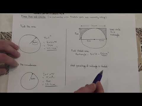 Daily Essential GCSE maths revision: Guarantee a grade 5 : Video 1: Area and Circumference