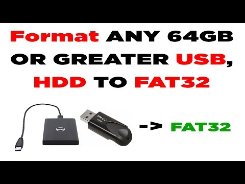 How to format any 64gb  USB or Hard drive HDD to FAT32