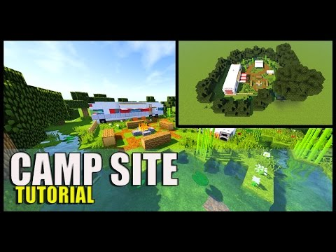 Minecraft: How to Make a CAMP SITE / Camper Van Tutorial