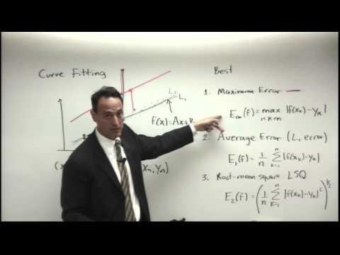 Lecture: Least-Squares Fitting Methods