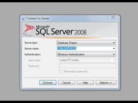 sql server 2008 : cách sửa lỗi hay gặp.