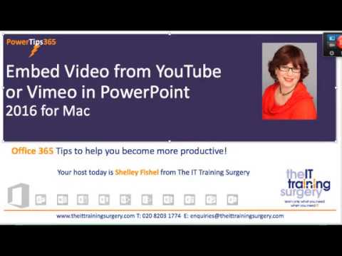 Insert Video from Youtube in PowerPoint 2016 Mac