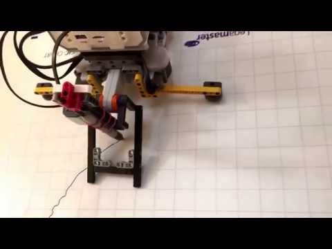Mindstorms robot plots a