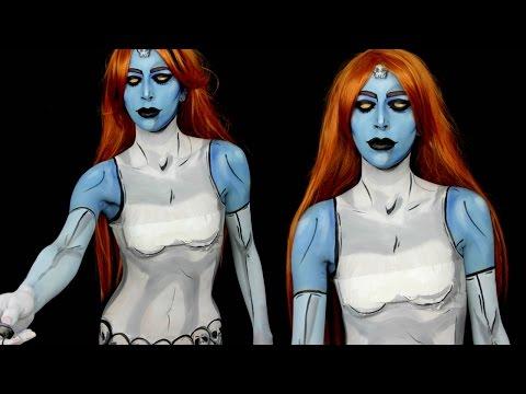 Mystique X-Men Makeup Tutorial