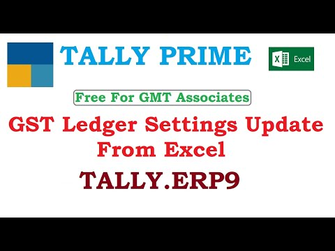 GST Ledger Settings Update From Excel