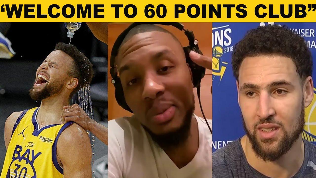 NBA Players React to Steph Curry  Career High 62 points vs Blazers(GSW vs Portland)Klay,ayesha,kerr