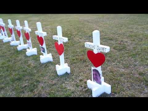 4-20-2018 Columbine Crosses and Stoneman Douglas High School shooting Memorial