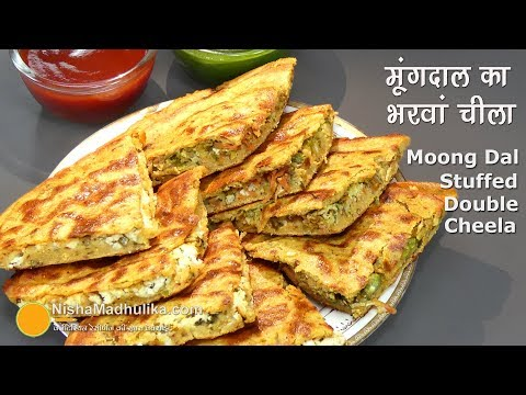 Moong Dal Cheela Layered | मूंगदाल का भरवां डबल चीला । Stuffed Moong Dal Double Chilla