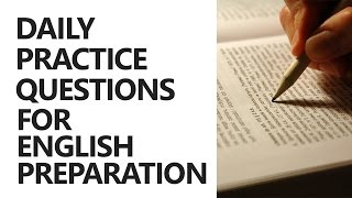 Daily Practice Questions for English Preparation [UPSC CSE/IAS, SSC CGL, BANK PO]