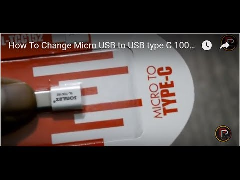 How To Change Micro USB to USB type C 100% WORKING