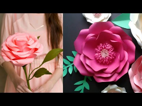 DIY Paper Flowers Wall Art | Room Decor | How To Make Paper Flower | Wall Hanging - Easy And Simple